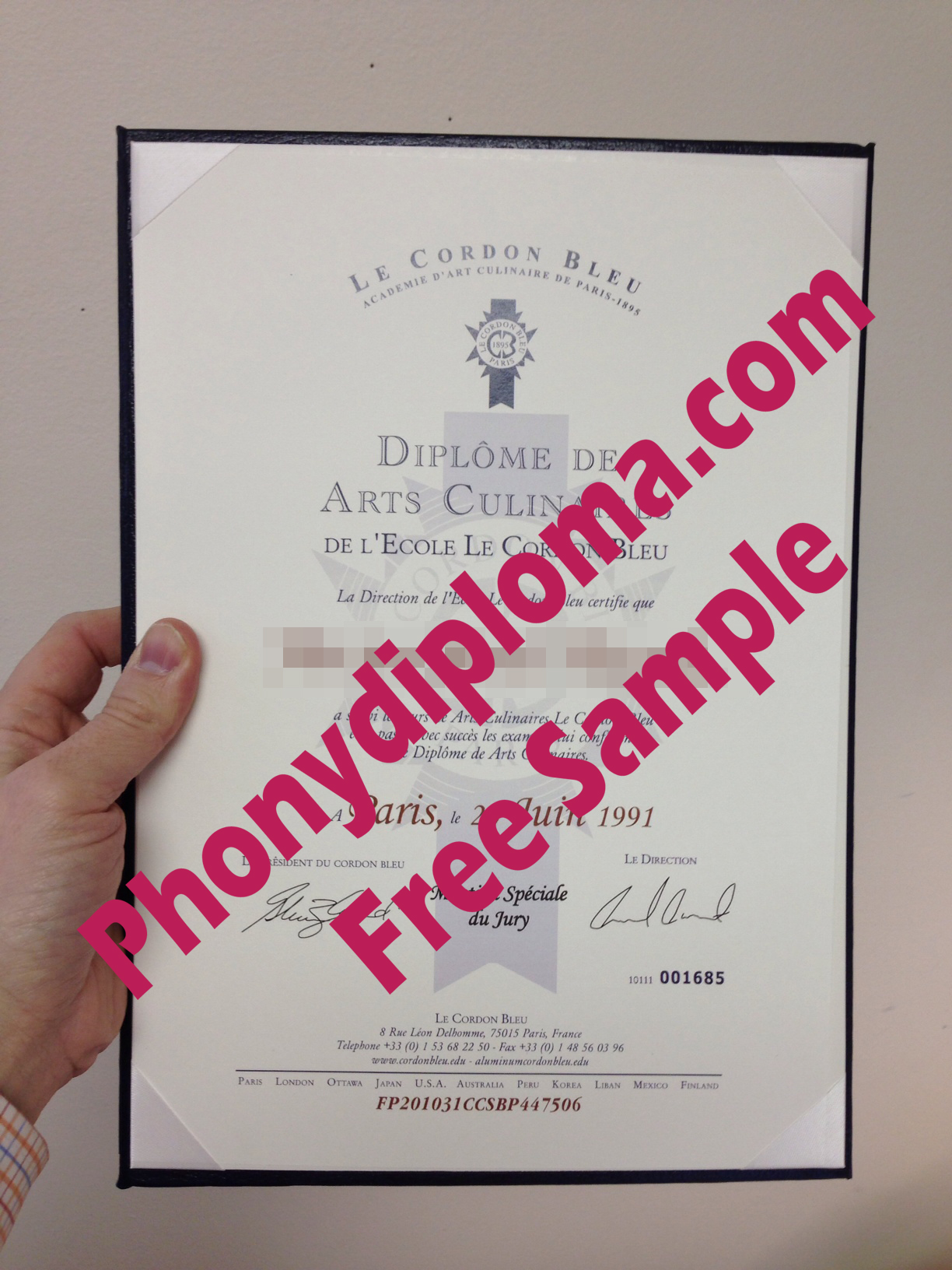 Le Cordon Bleu Culinary In French Free Sample From Phonydiploma
