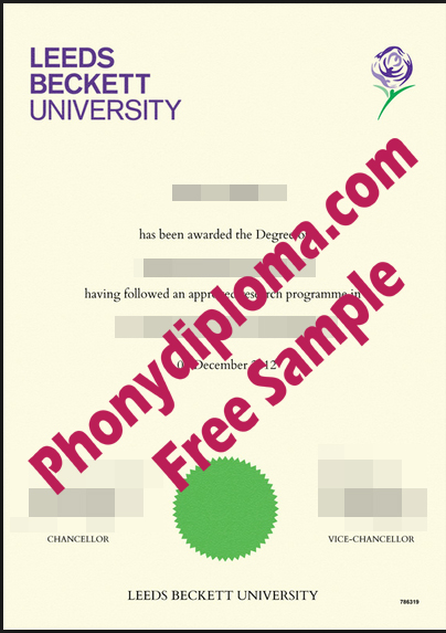 Leeds Beckett Free Sample From Phonydiploma