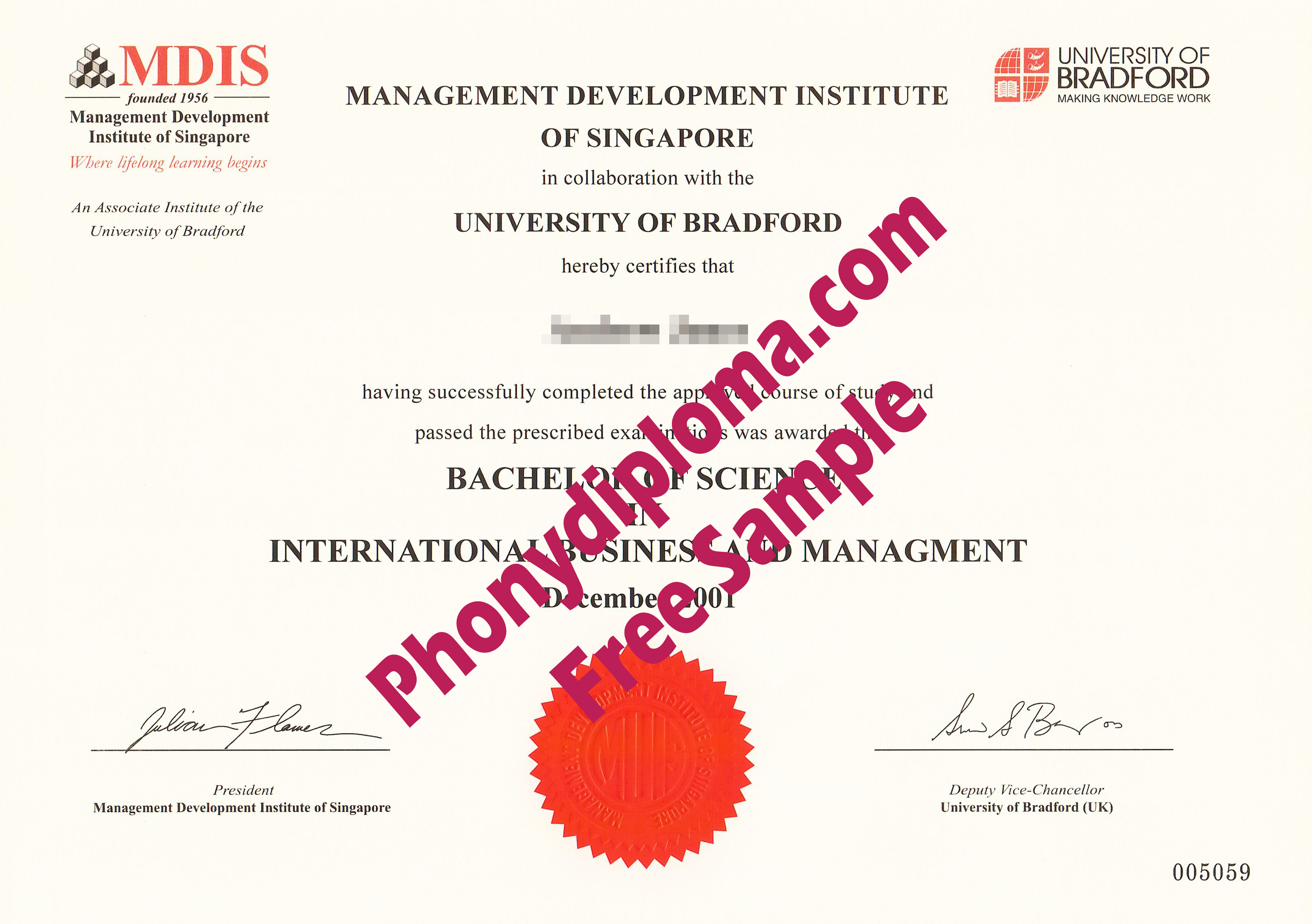 Mdis Management Development Institute Of Singapore Free Sample From Phonydiploma