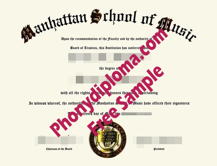 Manhattan School Of Music Free Sample From Phonydiploma
