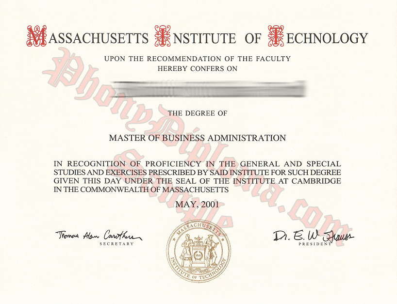 Massachusetts Institute Of Technology Free Sample From Phonydiploma (2)