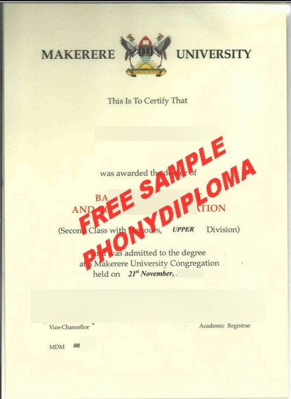 Mekerere University Diploma Free Sample From Phonydiploma
