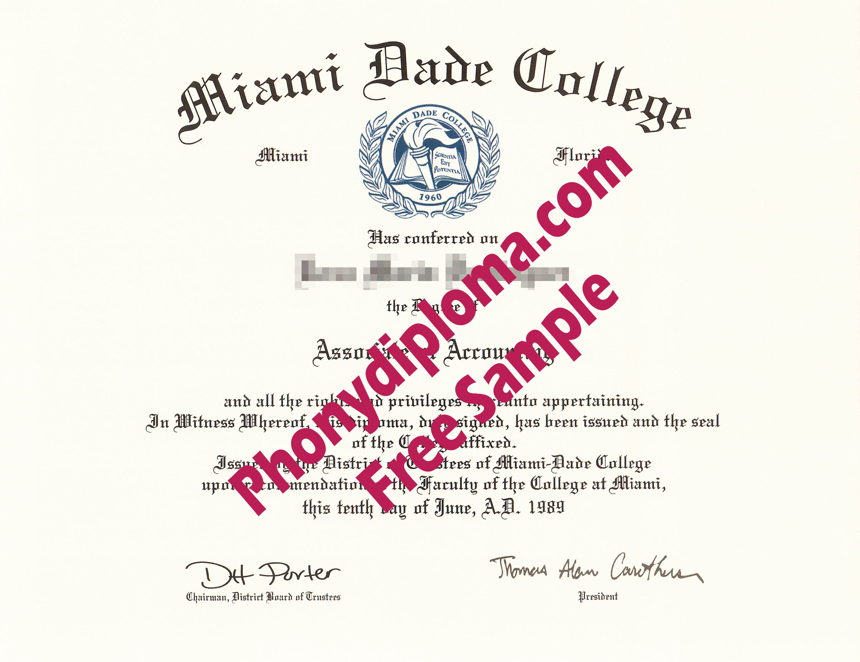 Miami Dade College Free Sample From Phonydiploma