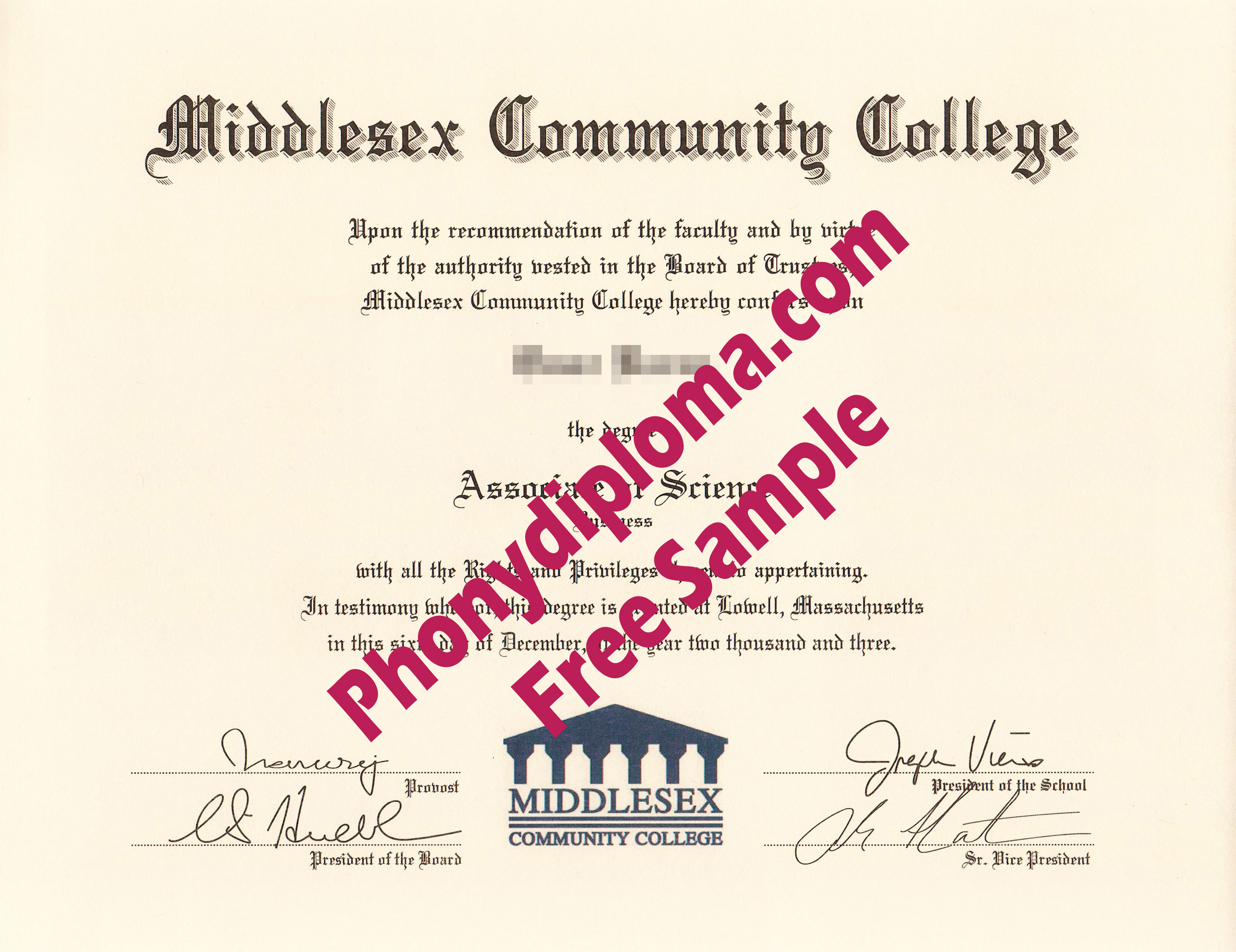 Middlesex Community College Free Sample From Phonydiploma