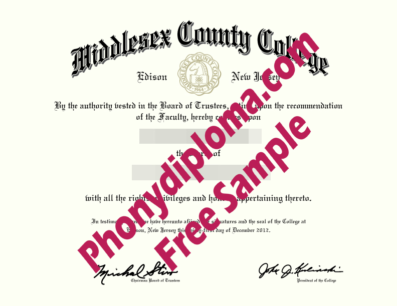 Middlesex County College Free Sample From Phonydiploma
