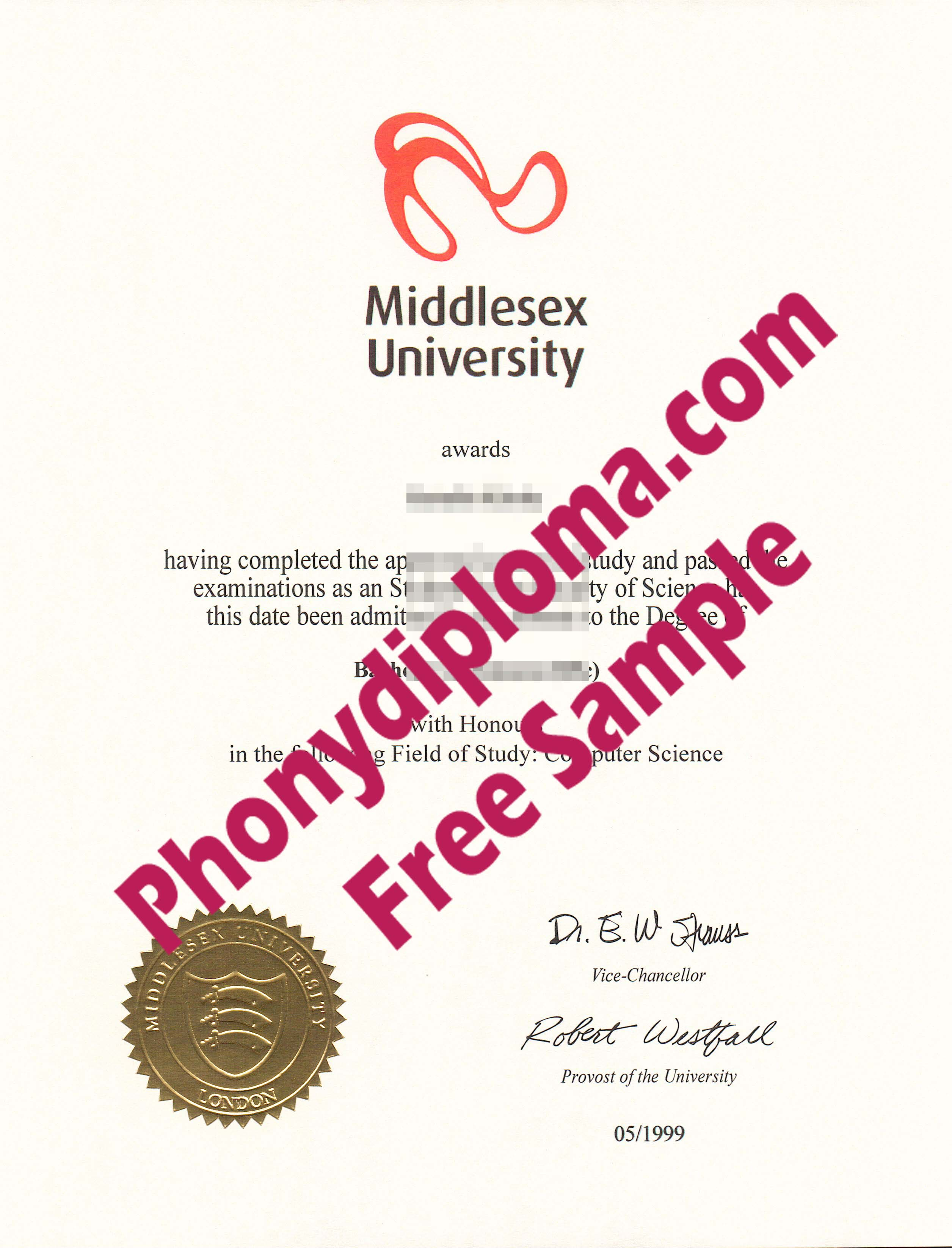 Middlesex University Free Sample From Phonydiploma