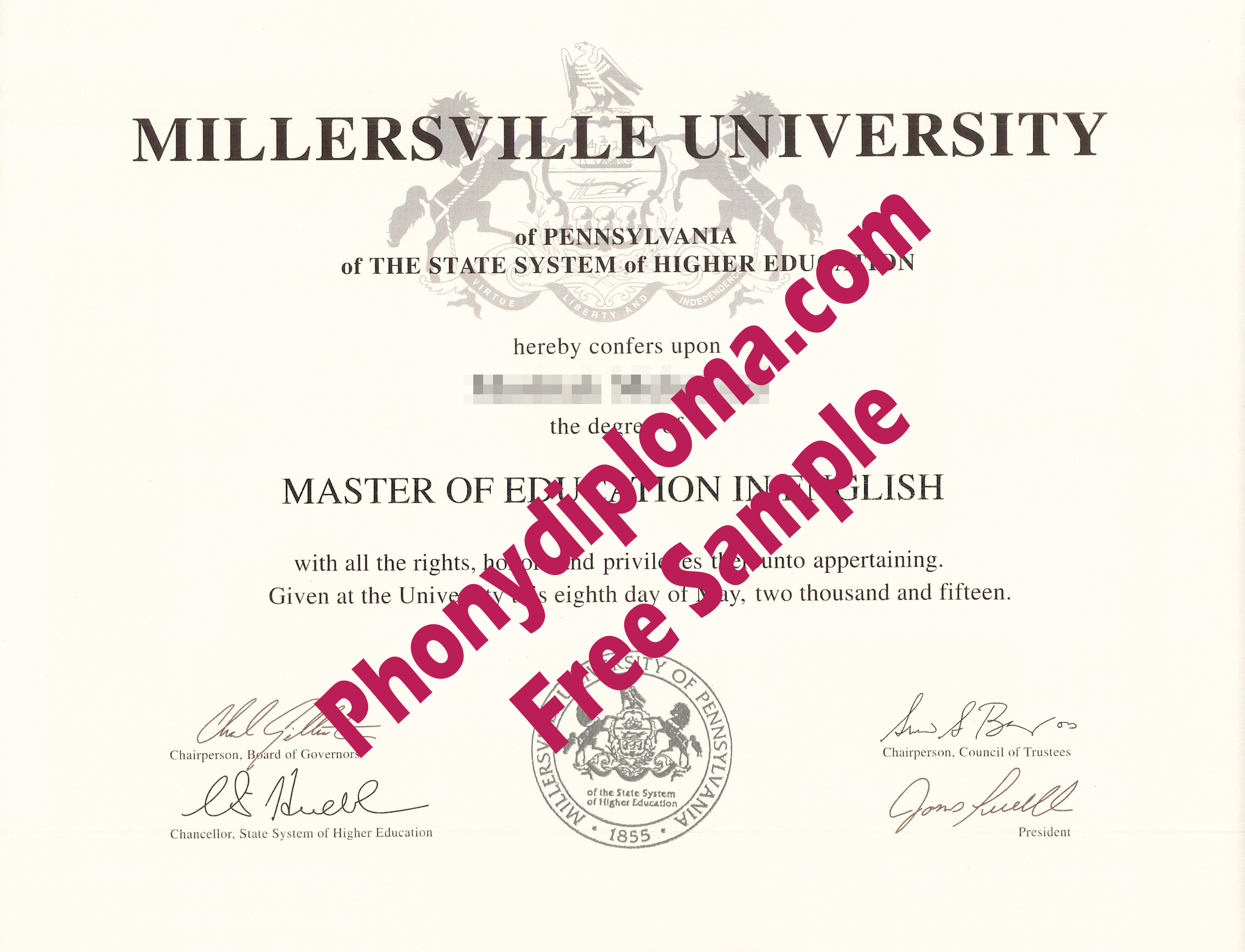 Millersville University Free Sample From Phonydiploma