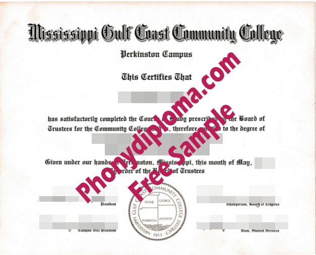 Mississippi Gulf Coast Community College Free Sample From Phonydiploma