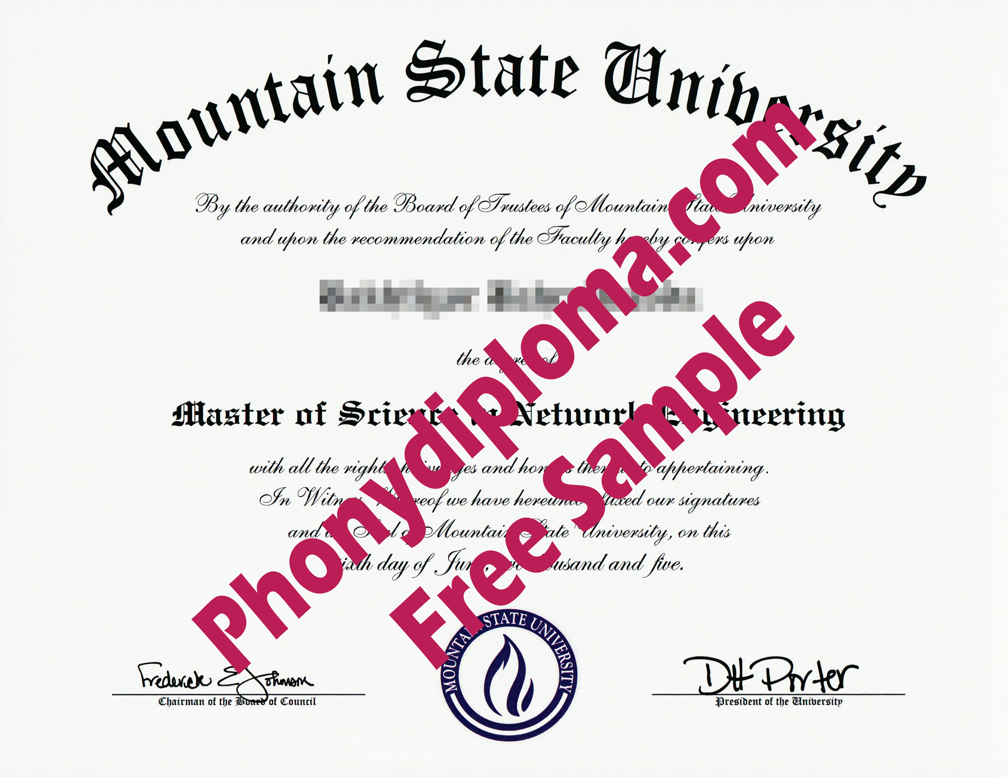Mountain State University Wv Free Sample From Phonydiploma
