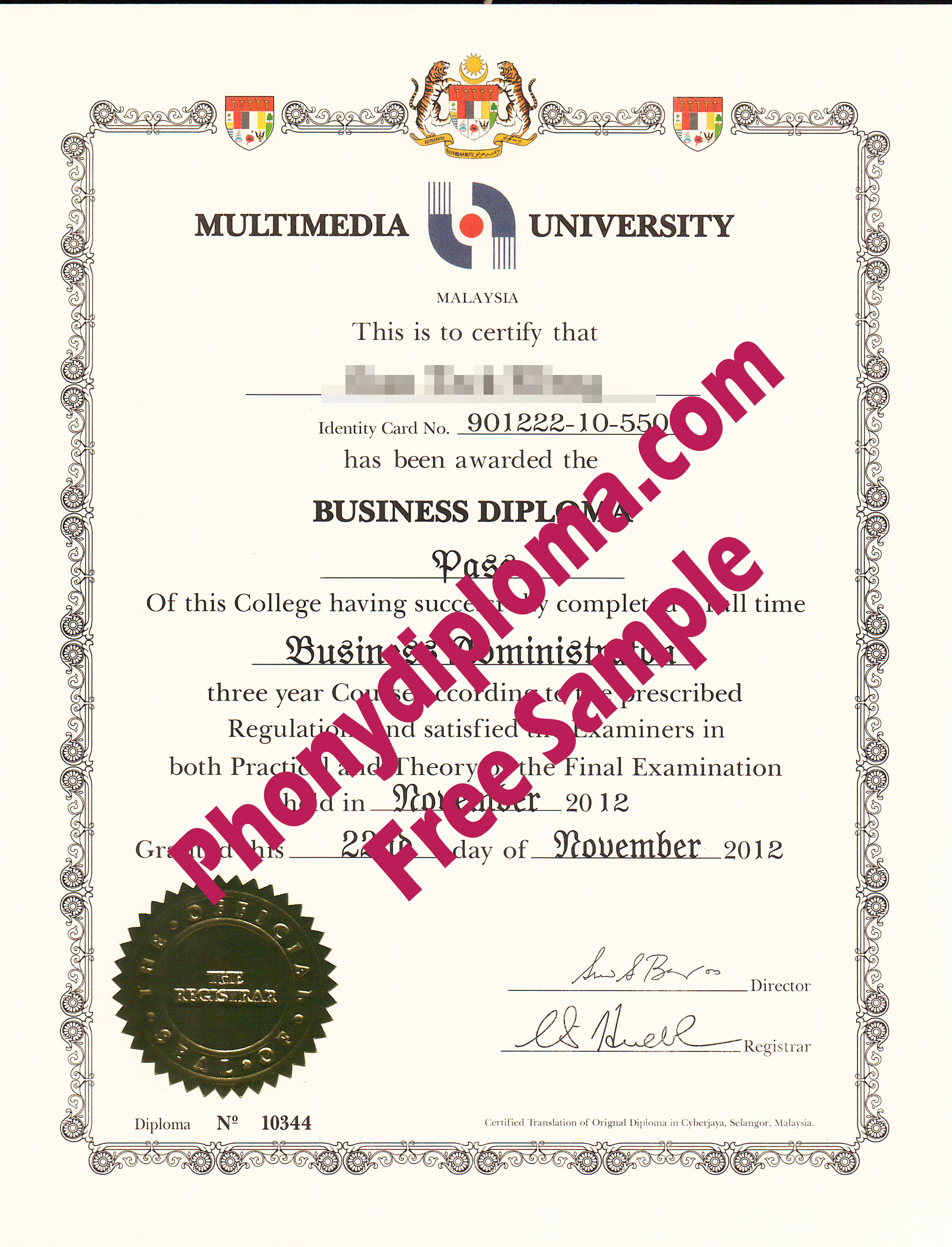 Multimedia University Free Sample From Phonydiploma (2)