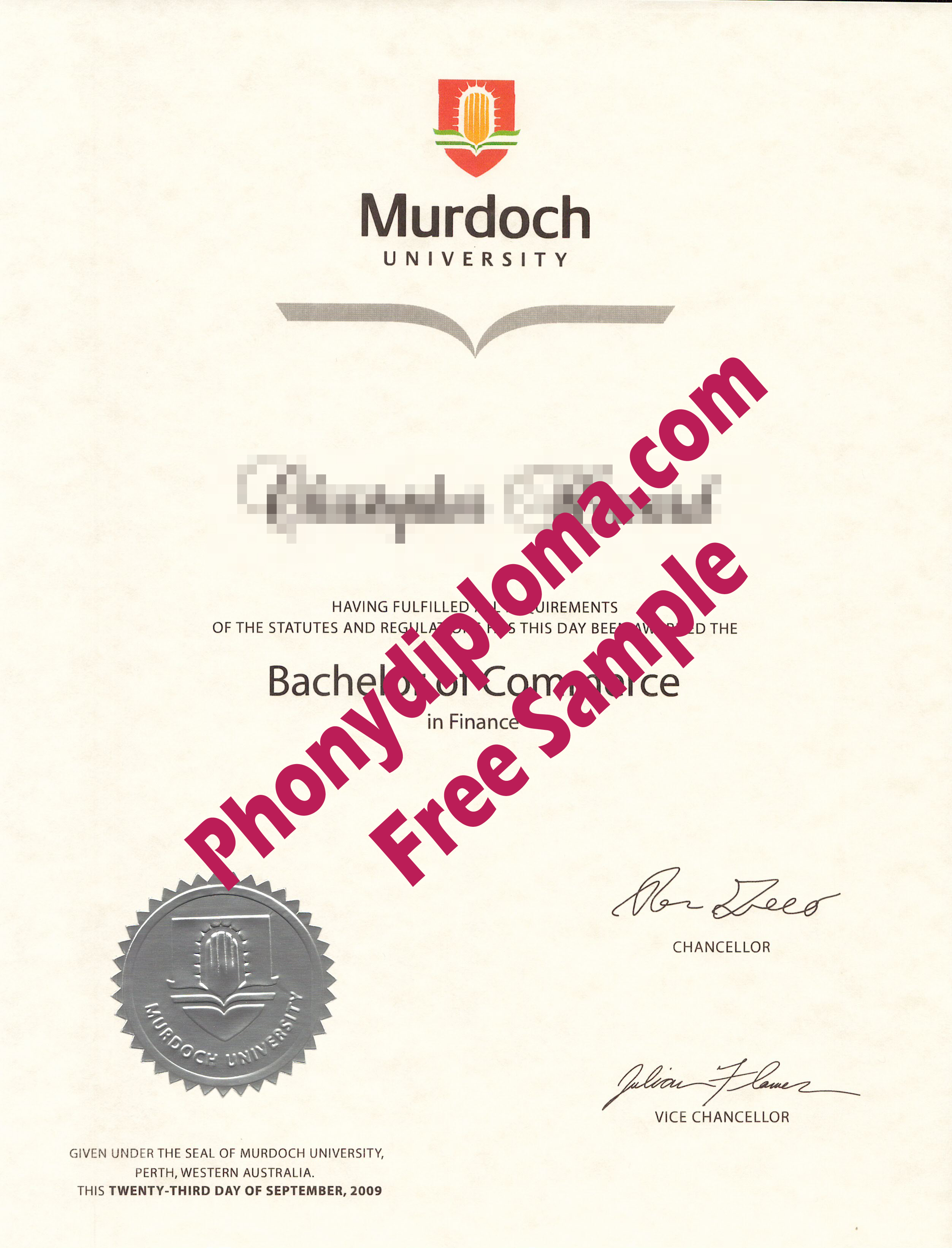 Murdoch University Free Sample From Phonydiploma