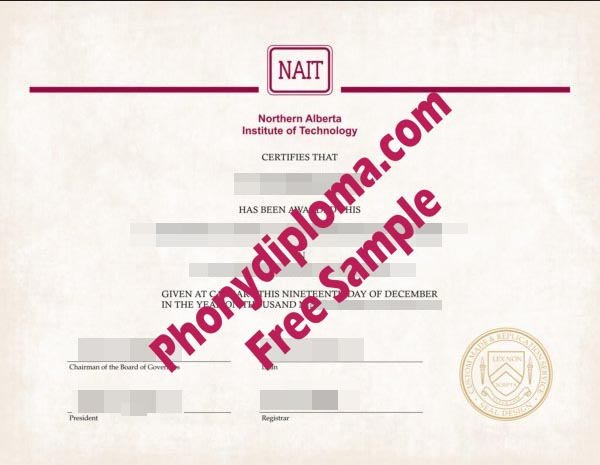 Nait Northern Alberta Institute Of Technology Free Sample From Phonydiploma