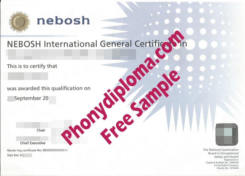 Nebosh International General Certificate Free Sample From Phonydiploma