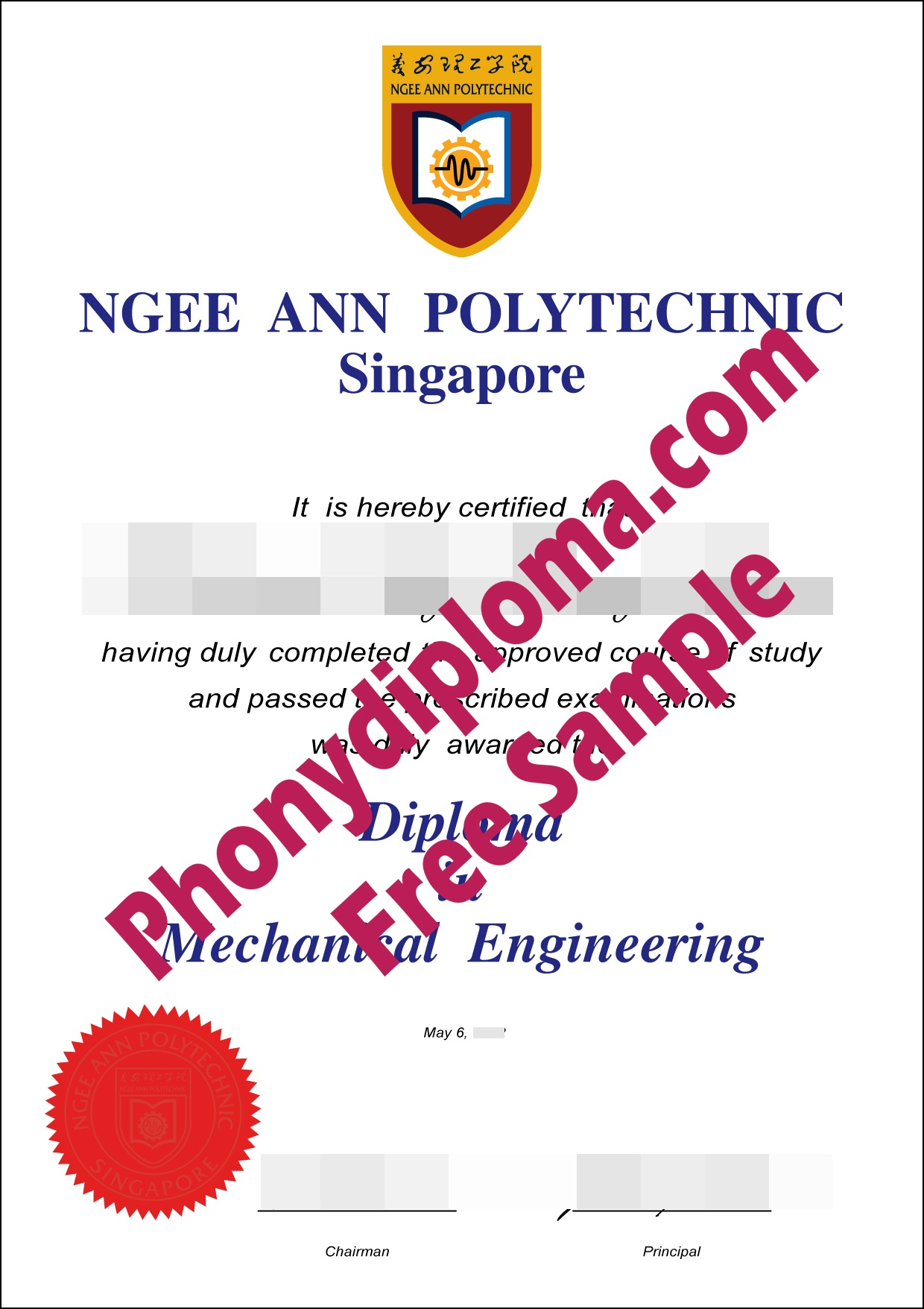 Ngee Ann Polytechnic Singapore Free Sample From Phonydiploma