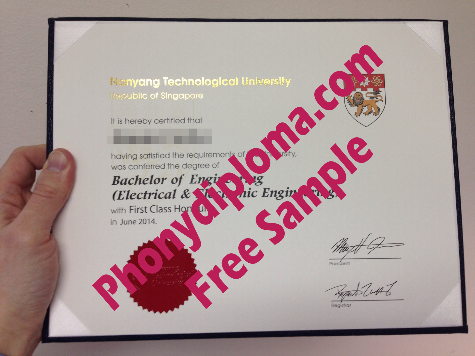 Nanyang Technological University Free Sample From Phonydiploma