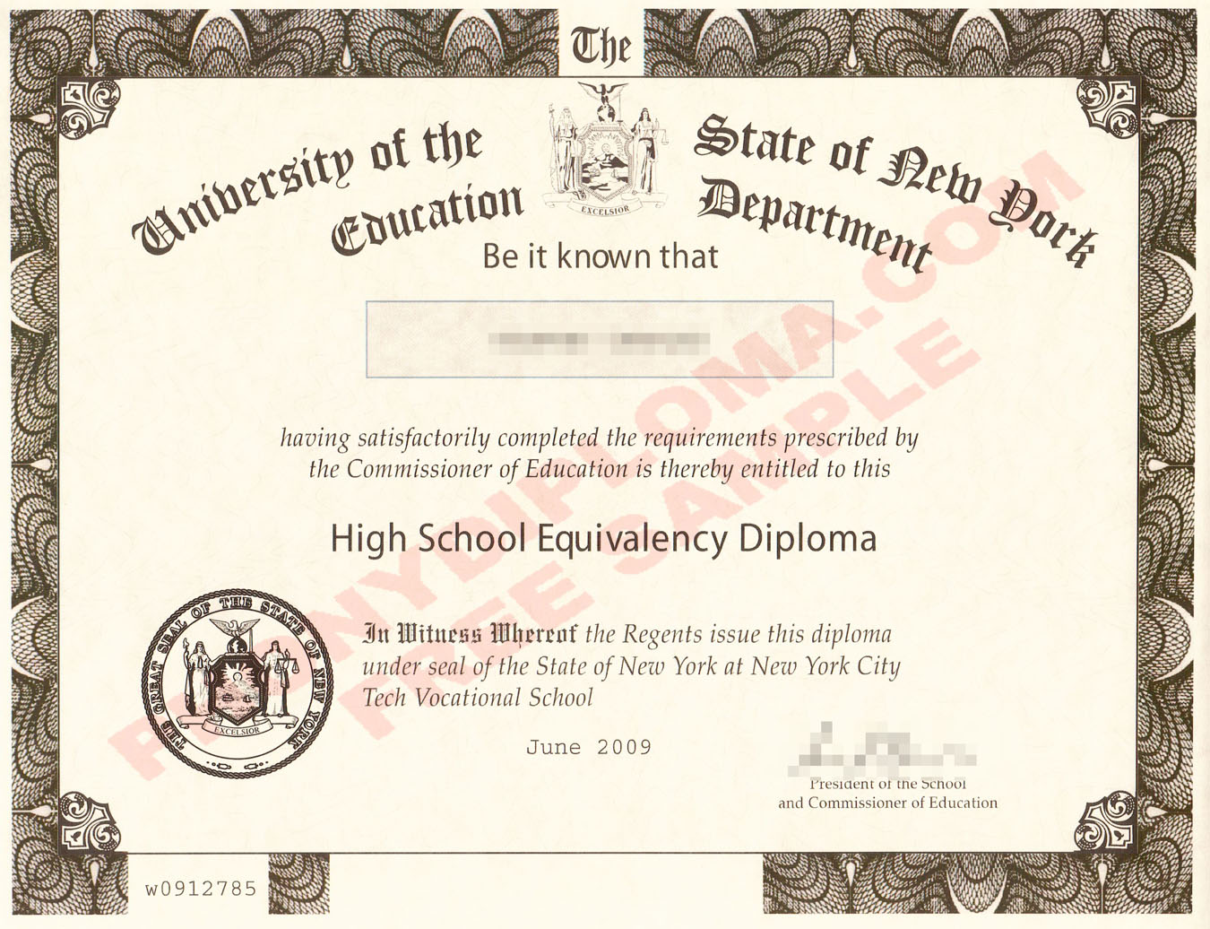New York Ged Ny Free Sample From Phonydiploma
