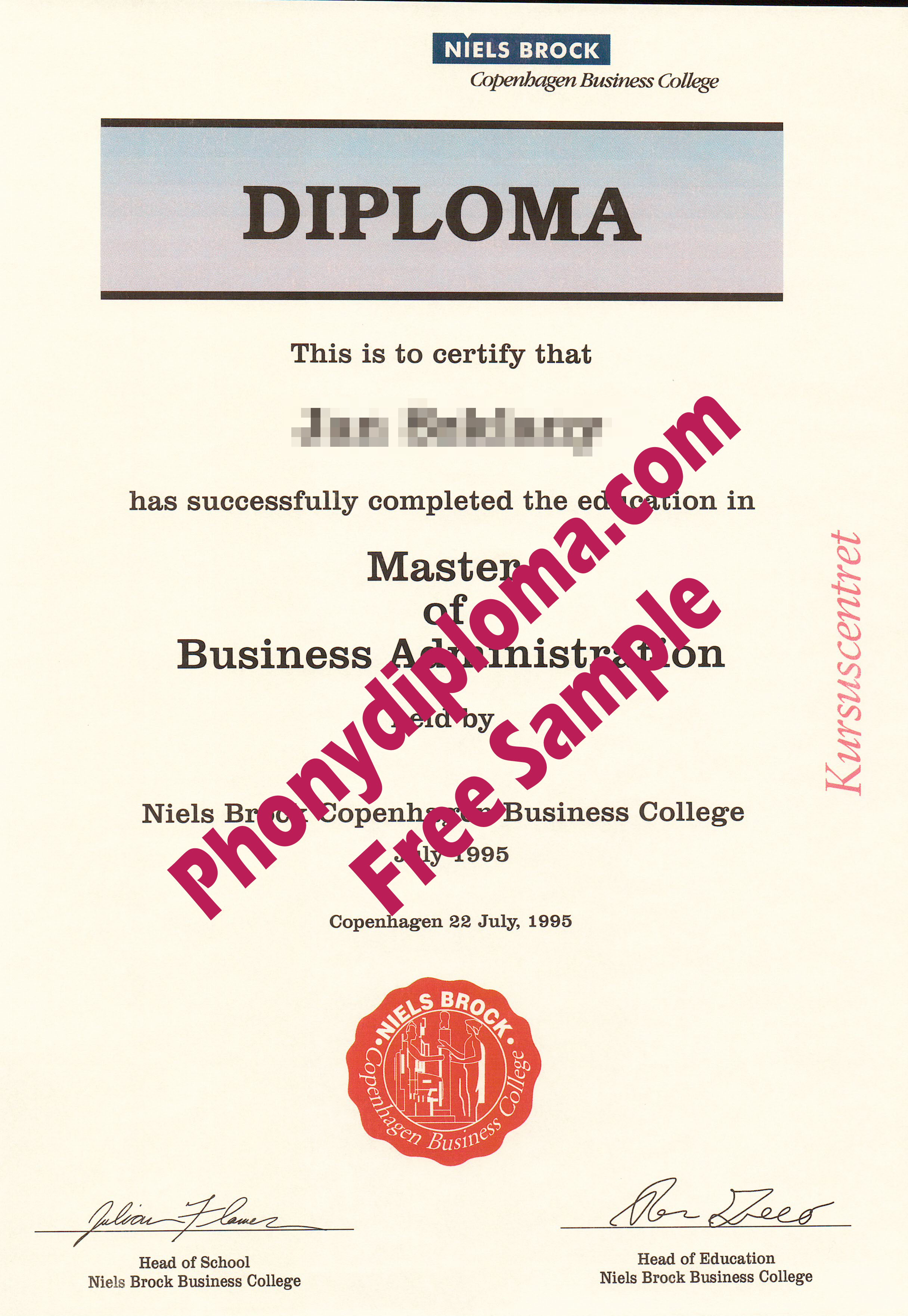 Niels Brock Copenhagen Business School Free Sample From Phonydiploma