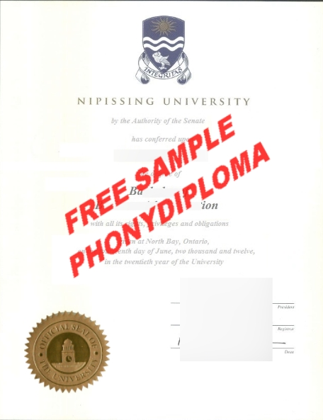 Nipissing University Ontario Free Sample From Phonydiploma