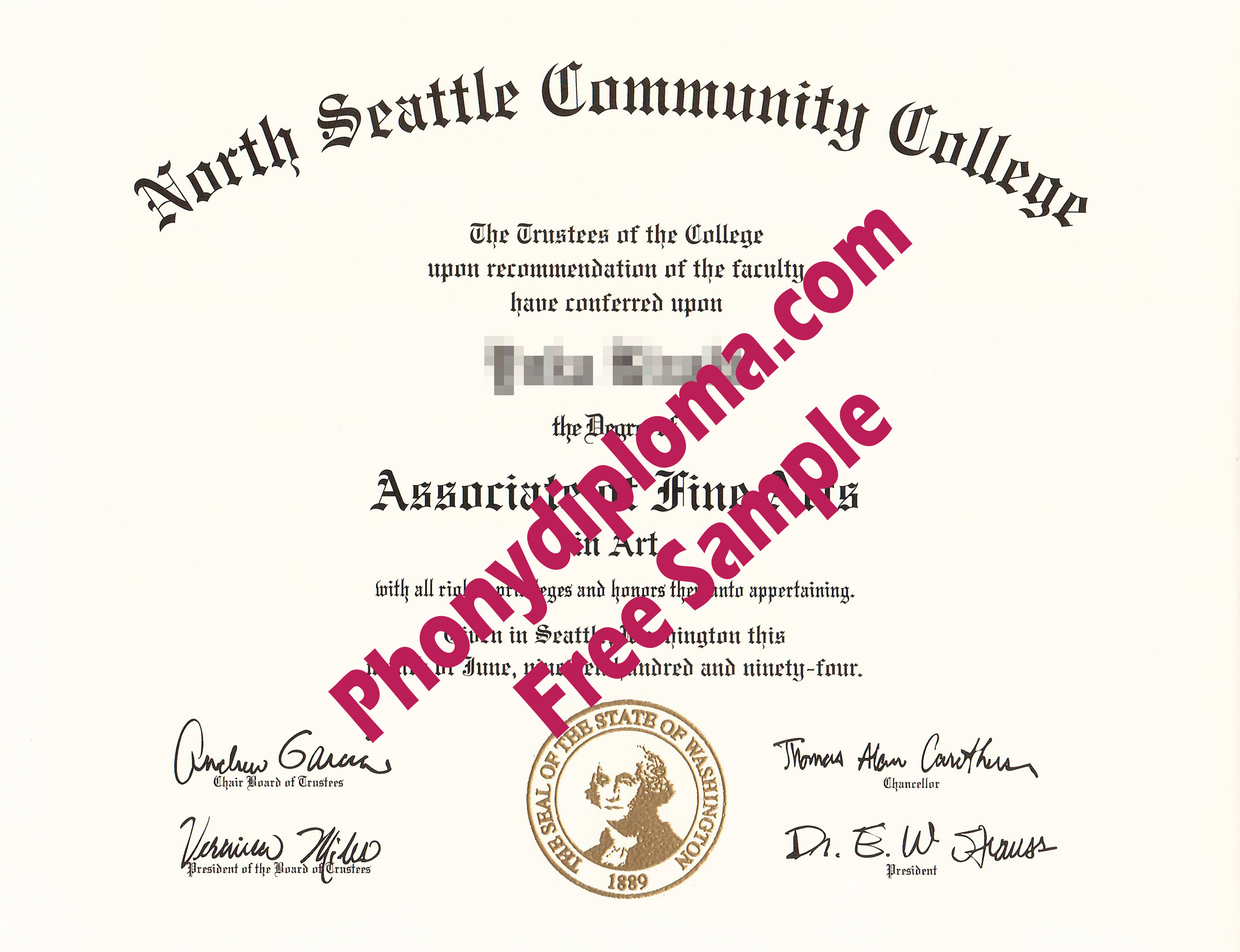 North Seattle Community College Free Sample From Phonydiploma