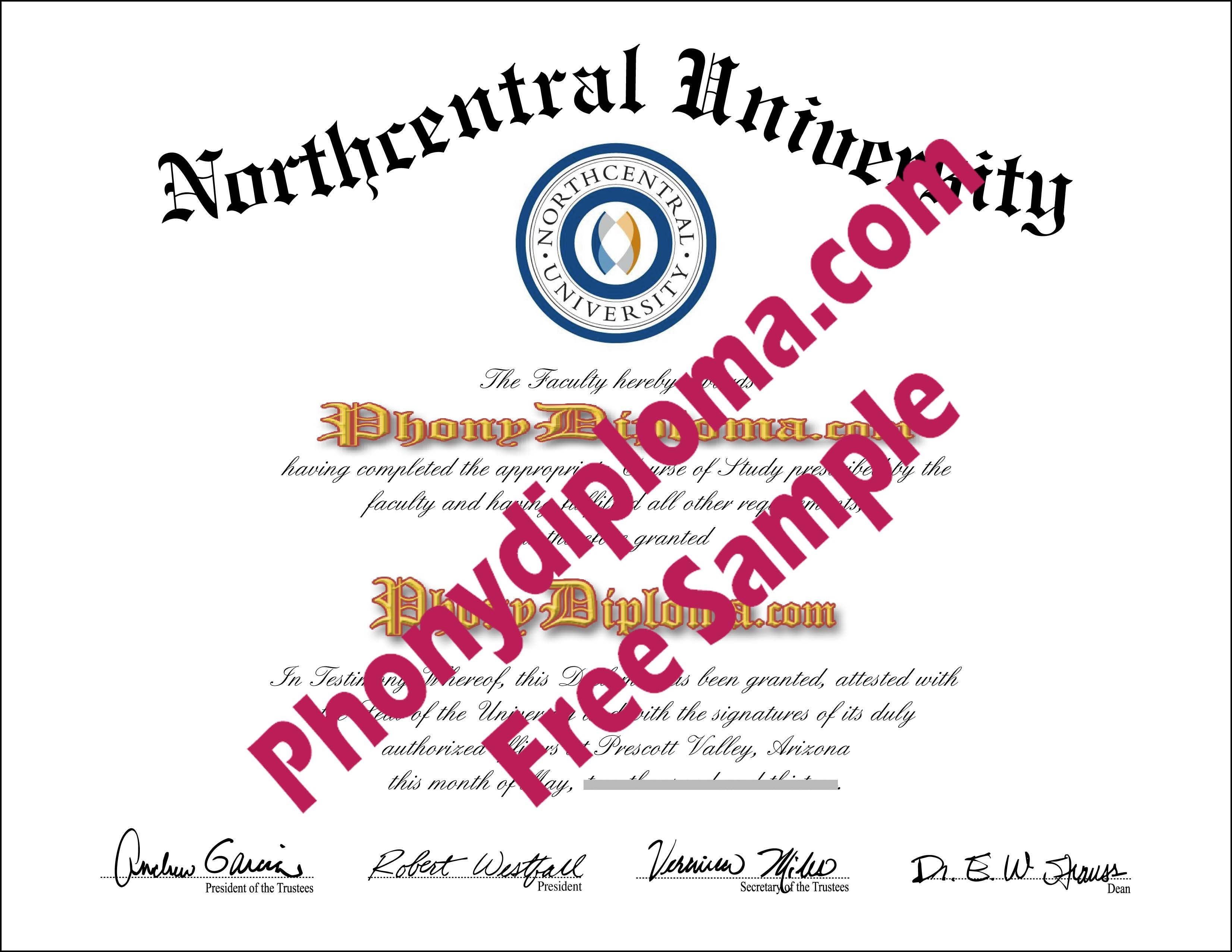 Northcentral University Free Sample From Phonydiploma