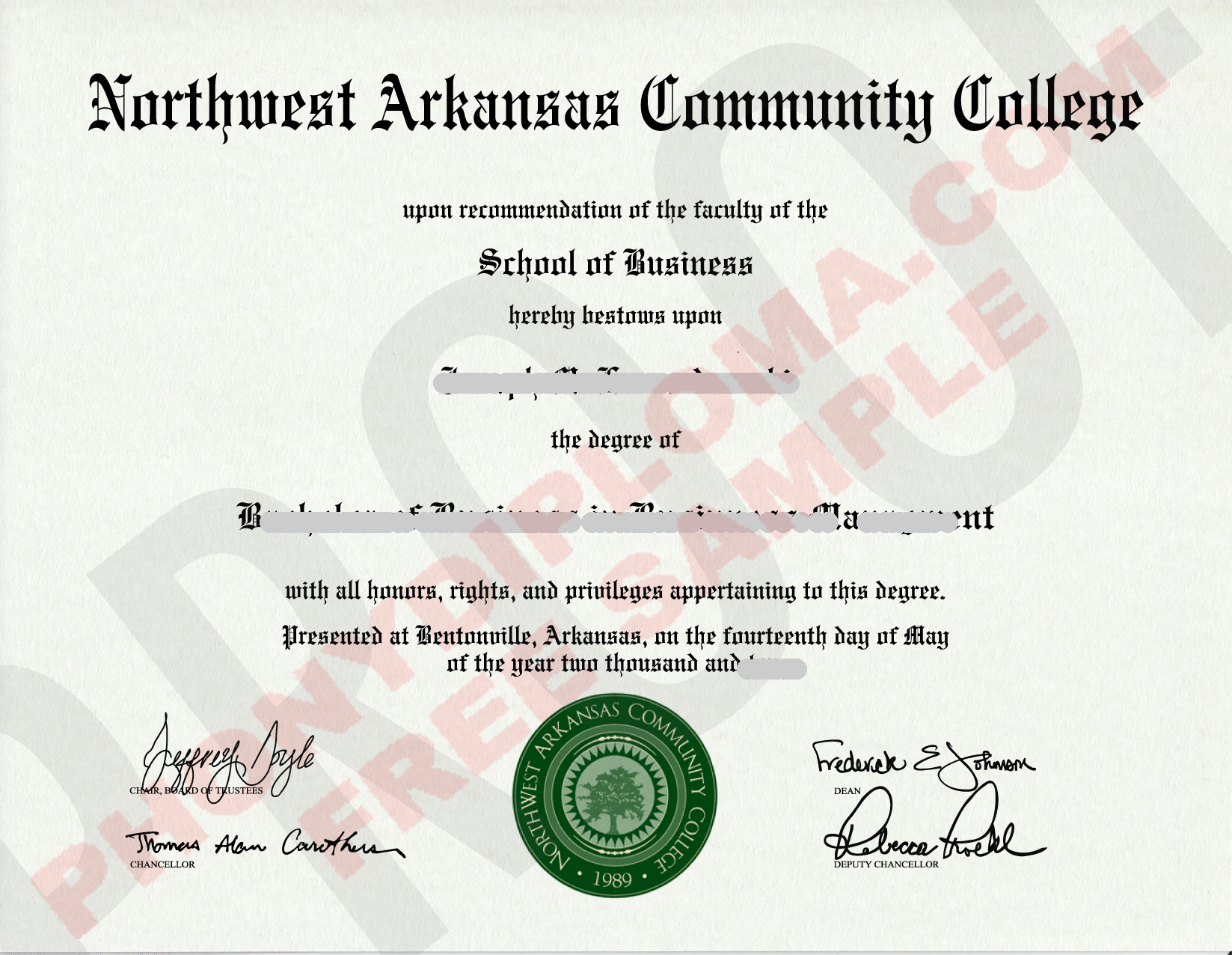 Northwest Arkansas Community College Free Sample From Phonydiploma
