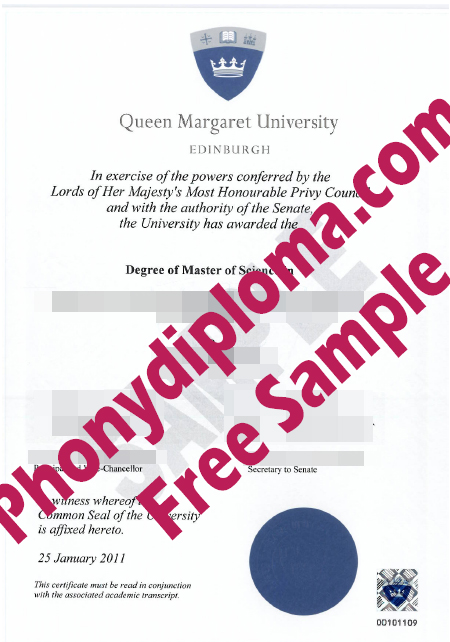 Queen Margaret University Edinburch Scotland Diploma Free Sample From Phonydiploma