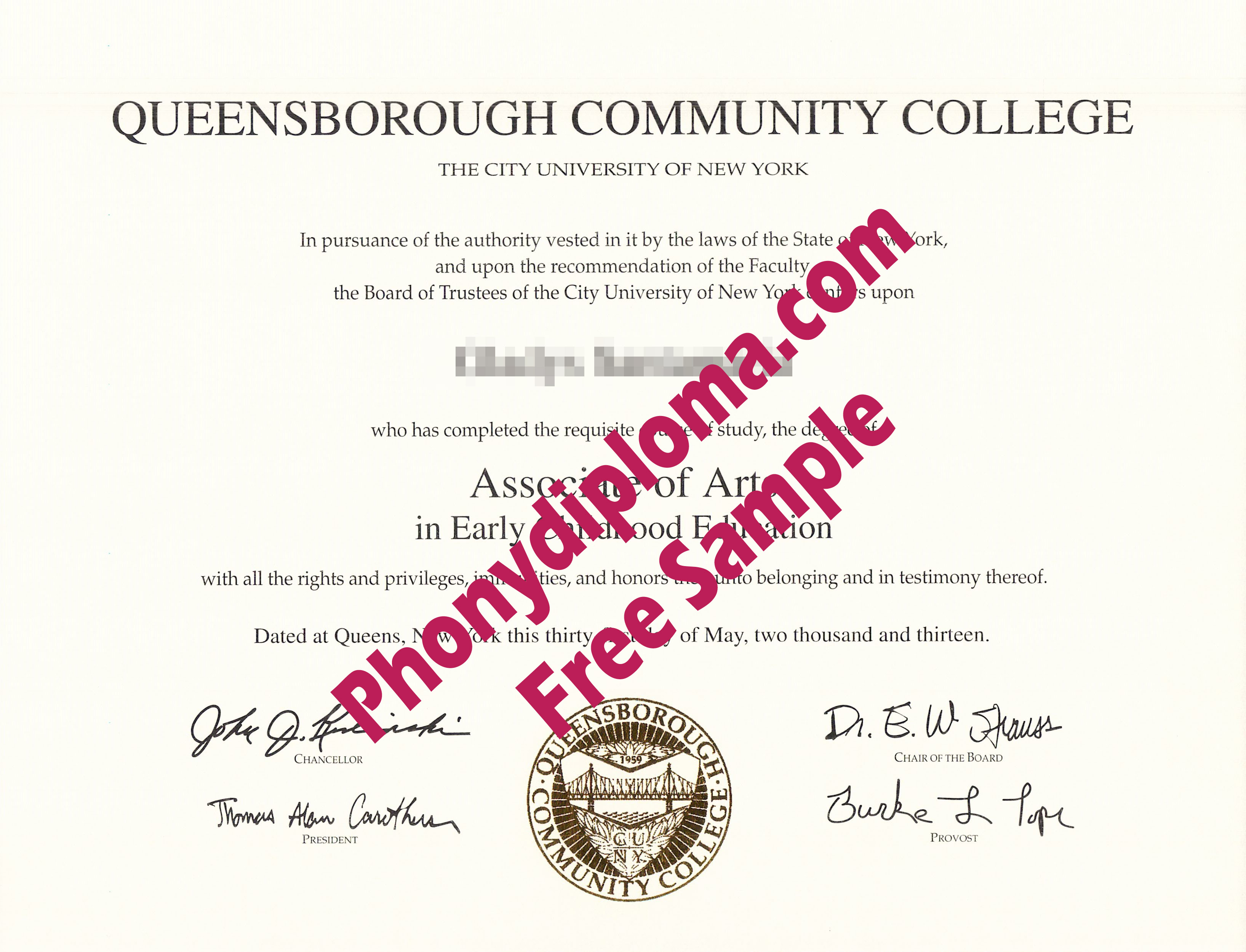 Queensborough Community College Free Sample From Phonydiploma