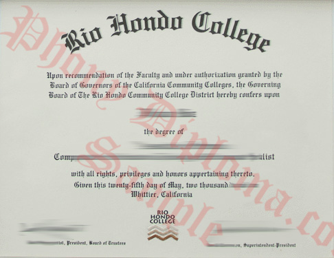 Rio Hondo College Free Sample From Phonydiploma