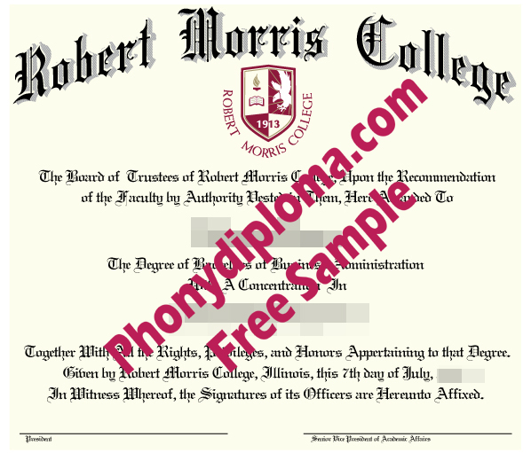 Robert Morris College Free Sample From Phonydiploma
