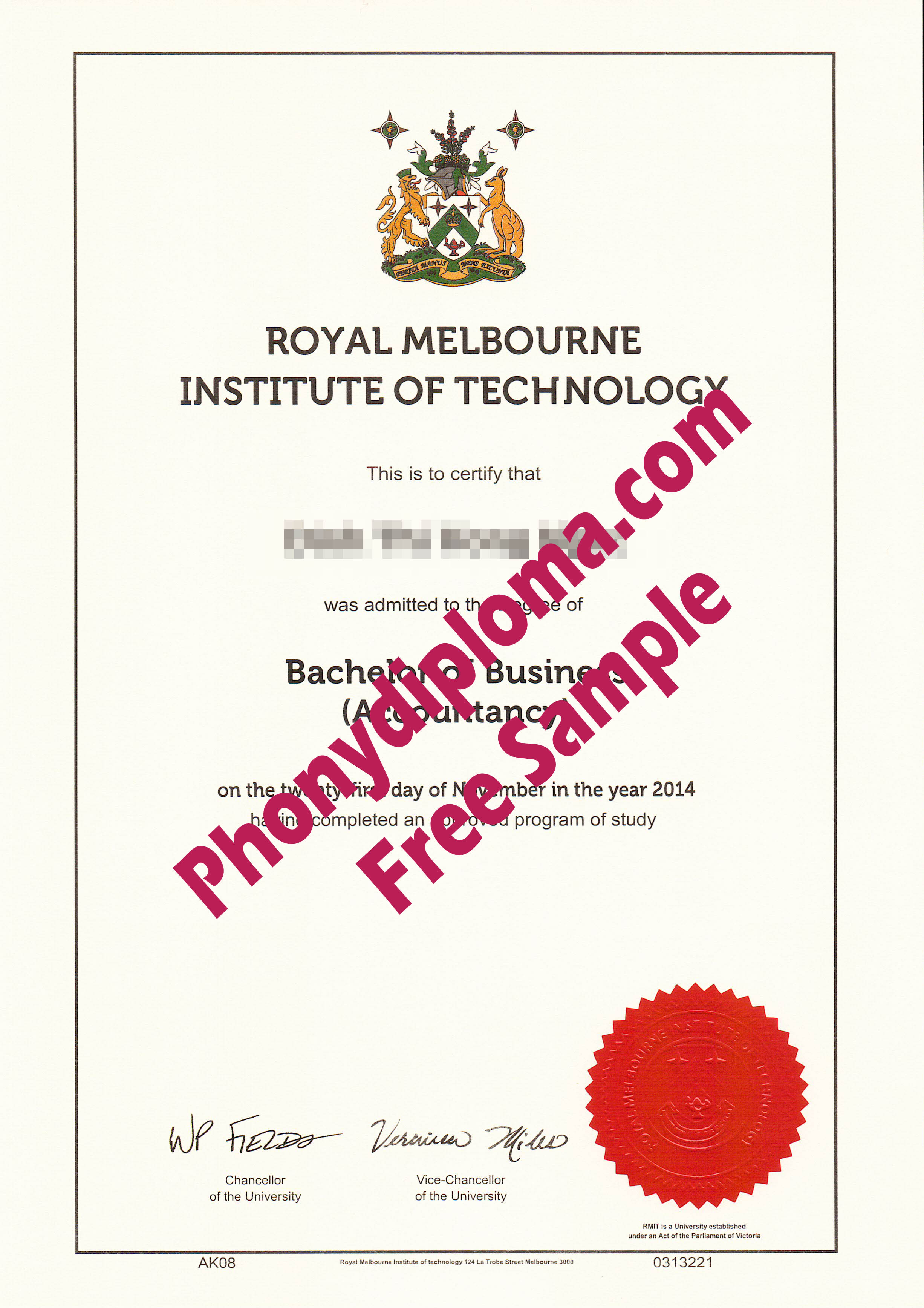 Royal Melbourne Institute Of Technology Rmit Free Sample From Phonydiploma 2