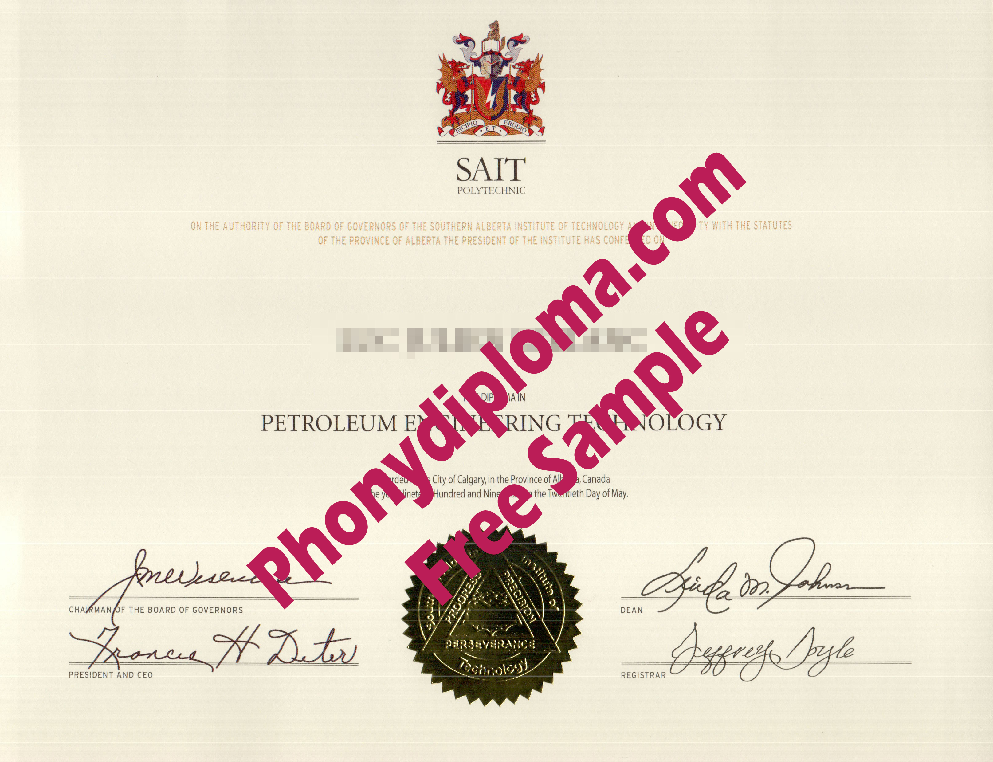 Sait Polytechnic Free Sample From Phonydiploma