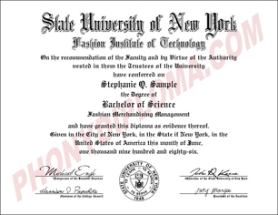 Suny Fashion Institute Of Technology Free Sample From Phonydiploma