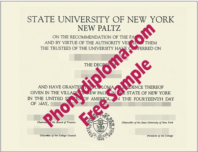 Suny New Paltz Free Sample From Phonydiploma