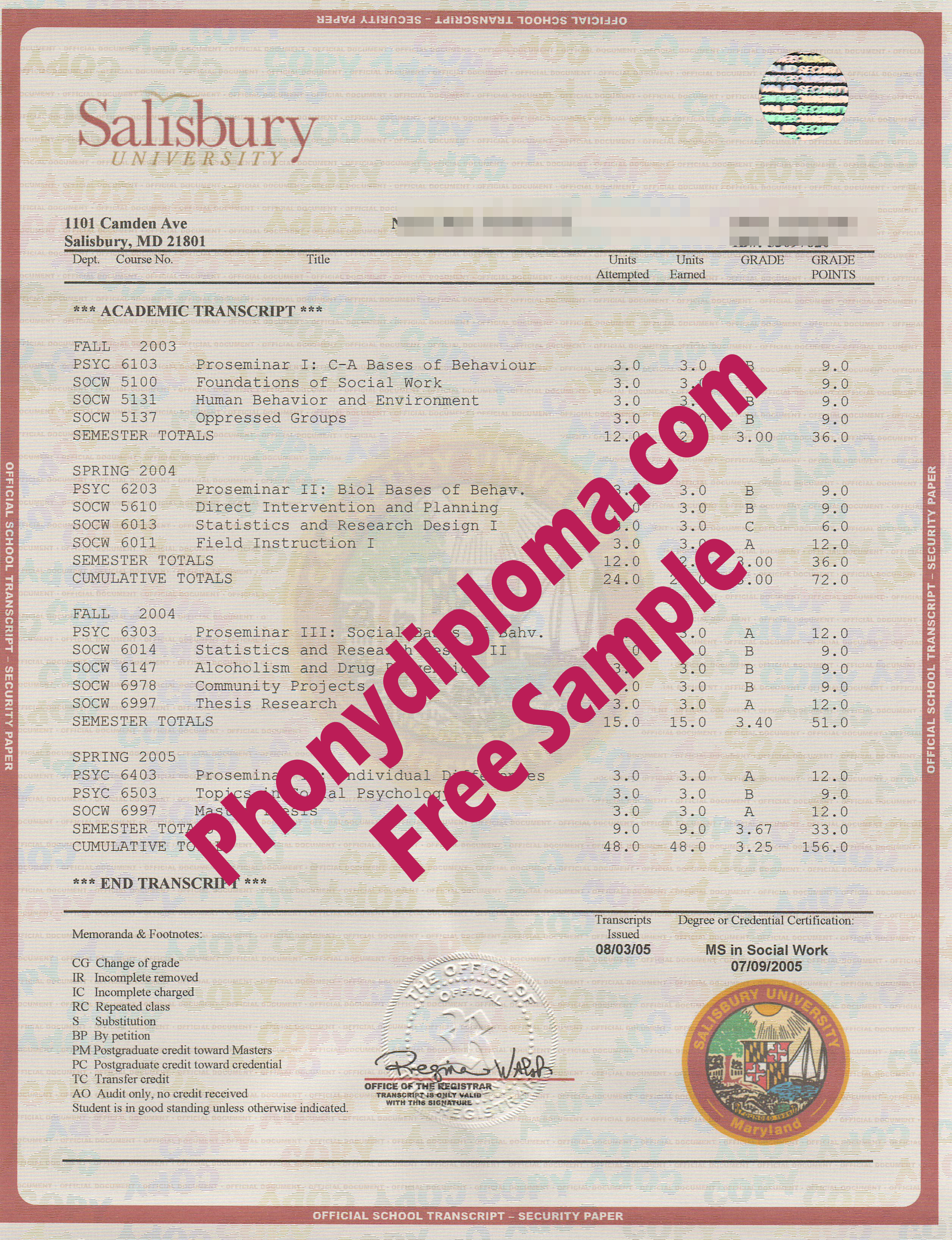 Salisbury University House Design Transcripts Free Sample From Phonydiploma