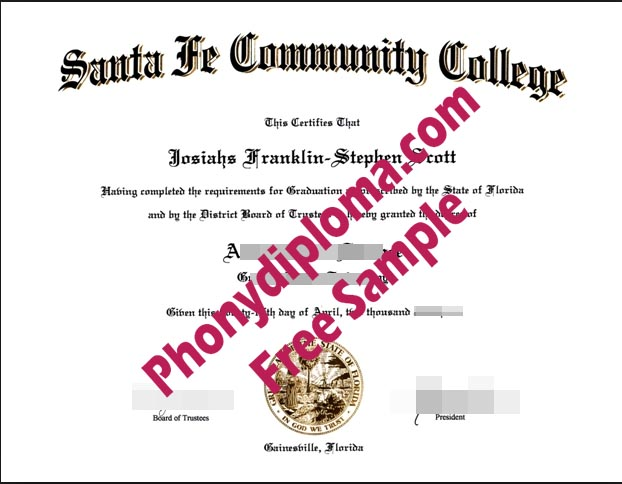 Santa Fe Community College Free Sample From Phonydiploma