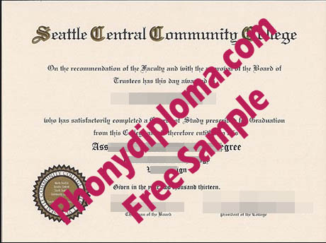 Seattle Central Community College Free Sample From Phonydiploma