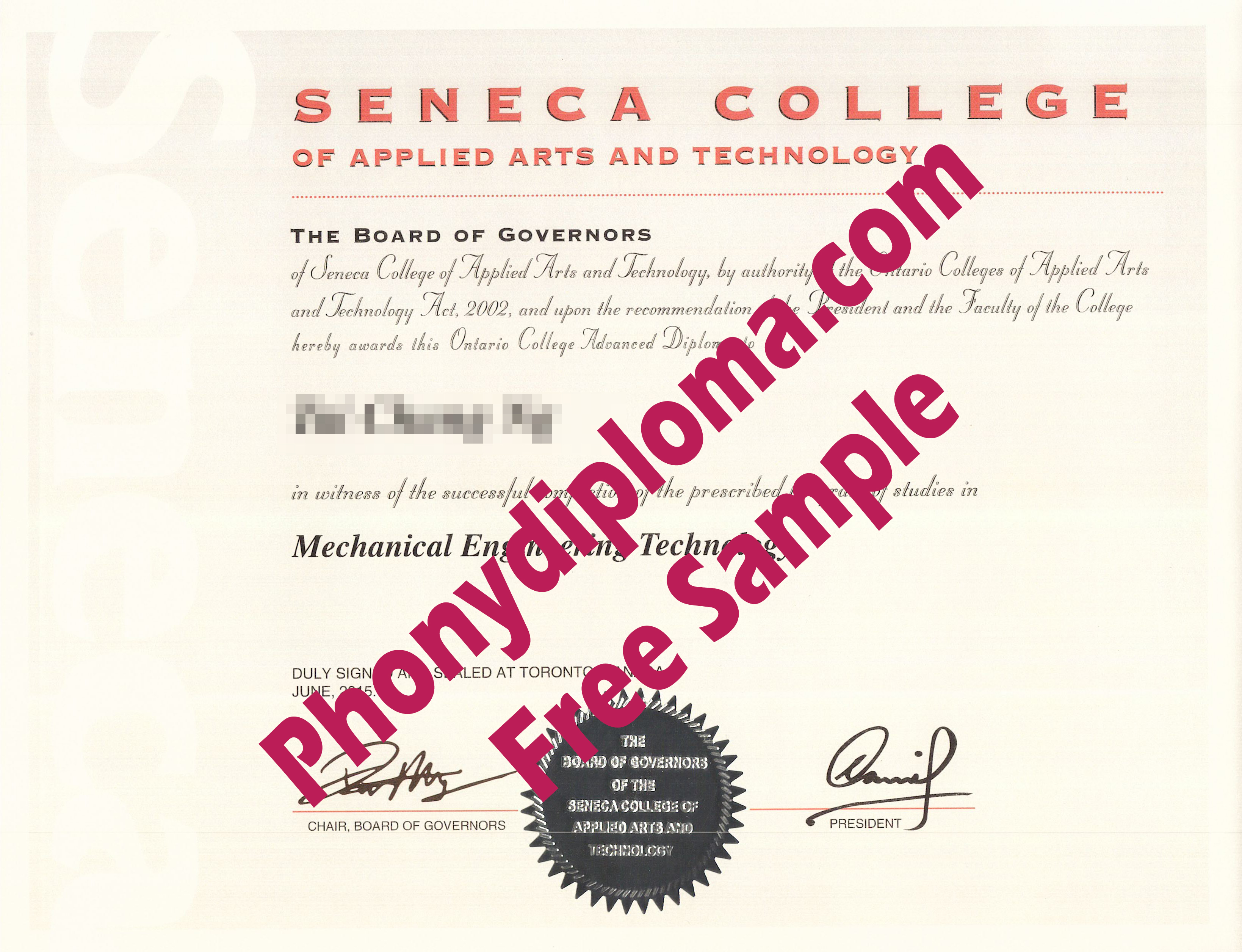 Seneca College Free Sample From Phonydiploma
