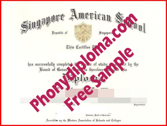 Singapore American School Free Sample From Phonydiploma