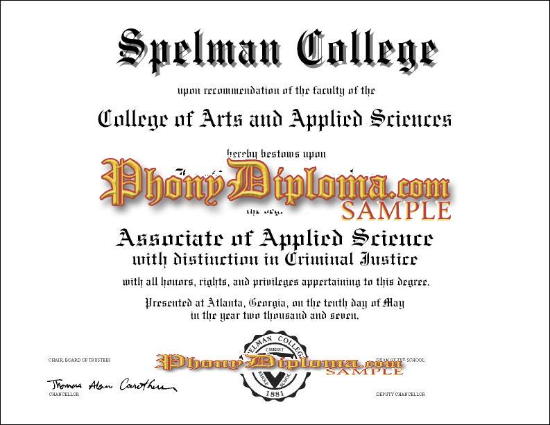 Spelman College Free Sample From Phonydiploma