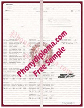 Strayer University Actual Matchtranscript Free Sample From Phonydiploma