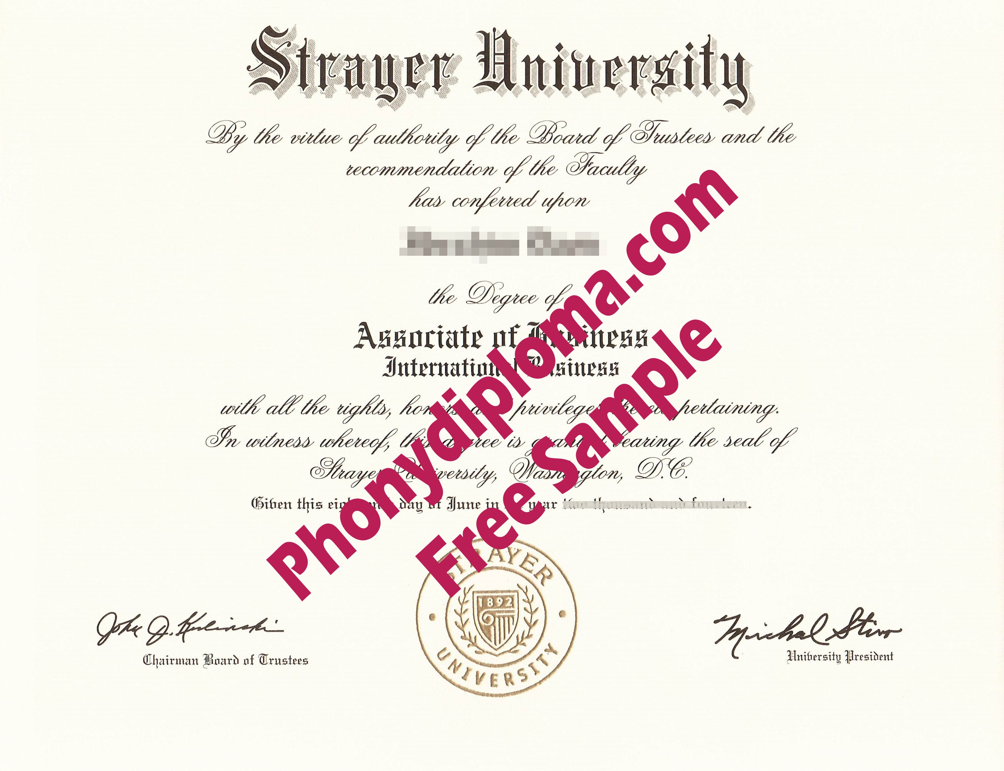 Strayer University Free Sample From Phonydiploma