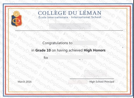 Switzerland College Du Leman Free Sample From Phonydiploma
