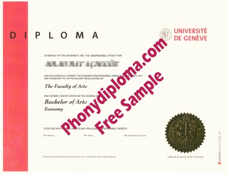 Switzerland Universite De Geneve Free Sample From Phonydiploma