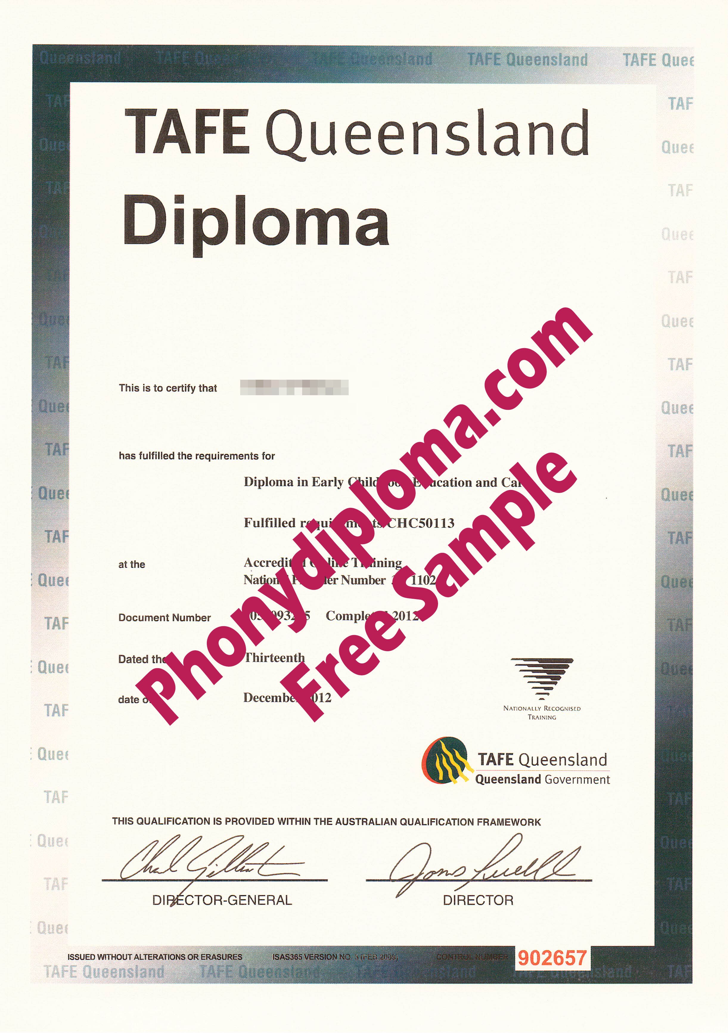 Tafe Queensland Free Sample From Phonydiploma