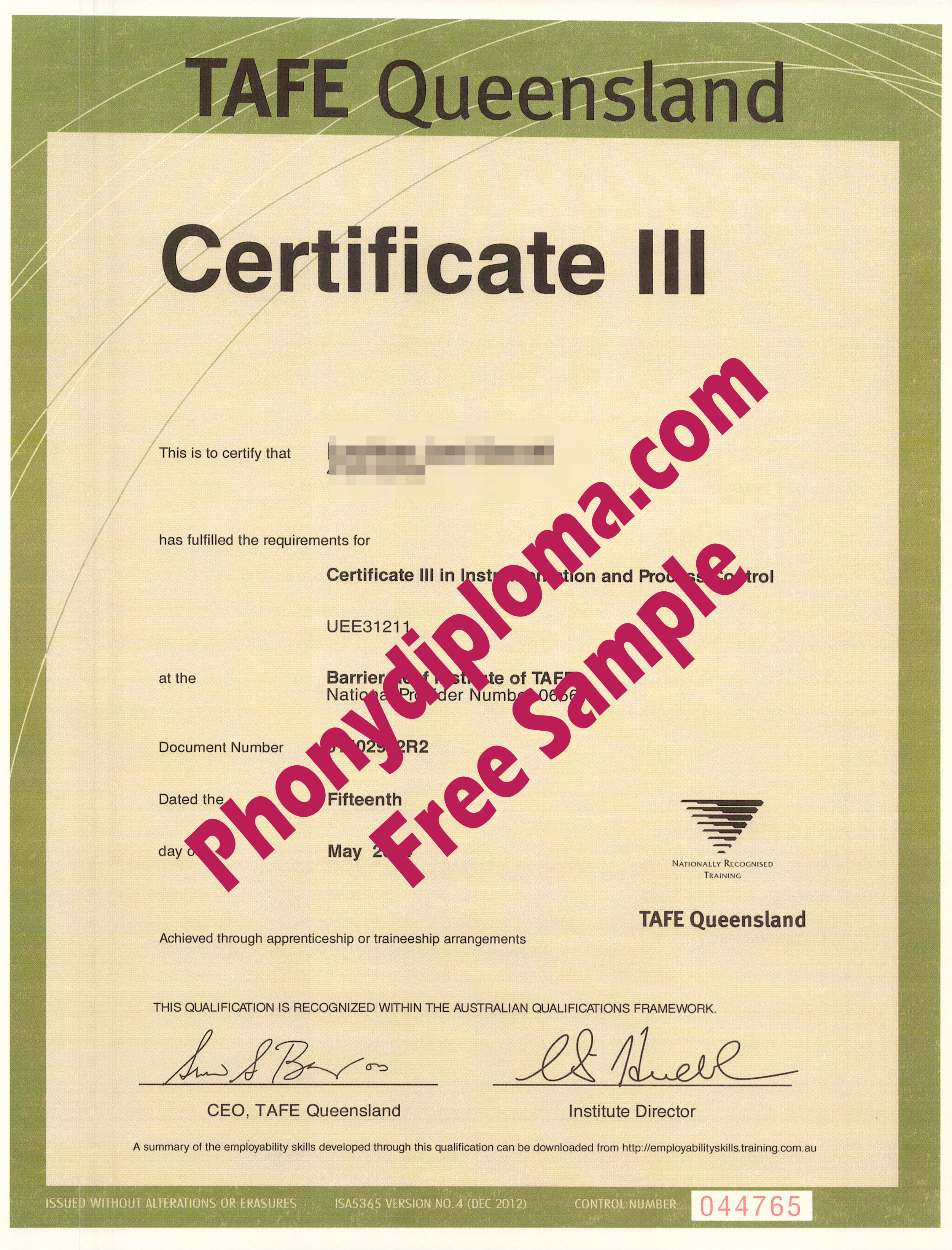 Tafe Queensland Iii Free Sample From Phonydiploma