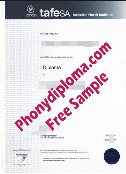 Tafe Sa Adelaide North Institute Free Sample From Phonydiploma