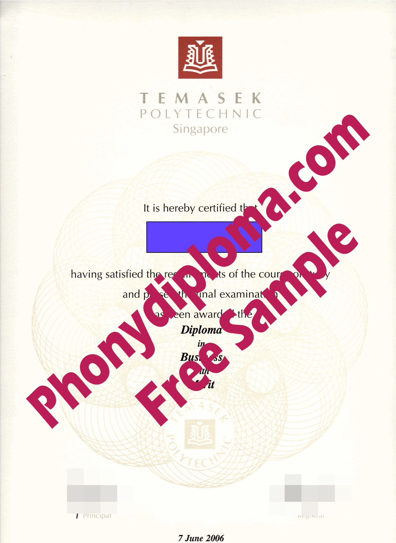 Temasek Polytechnic Free Sample From Phonydiploma