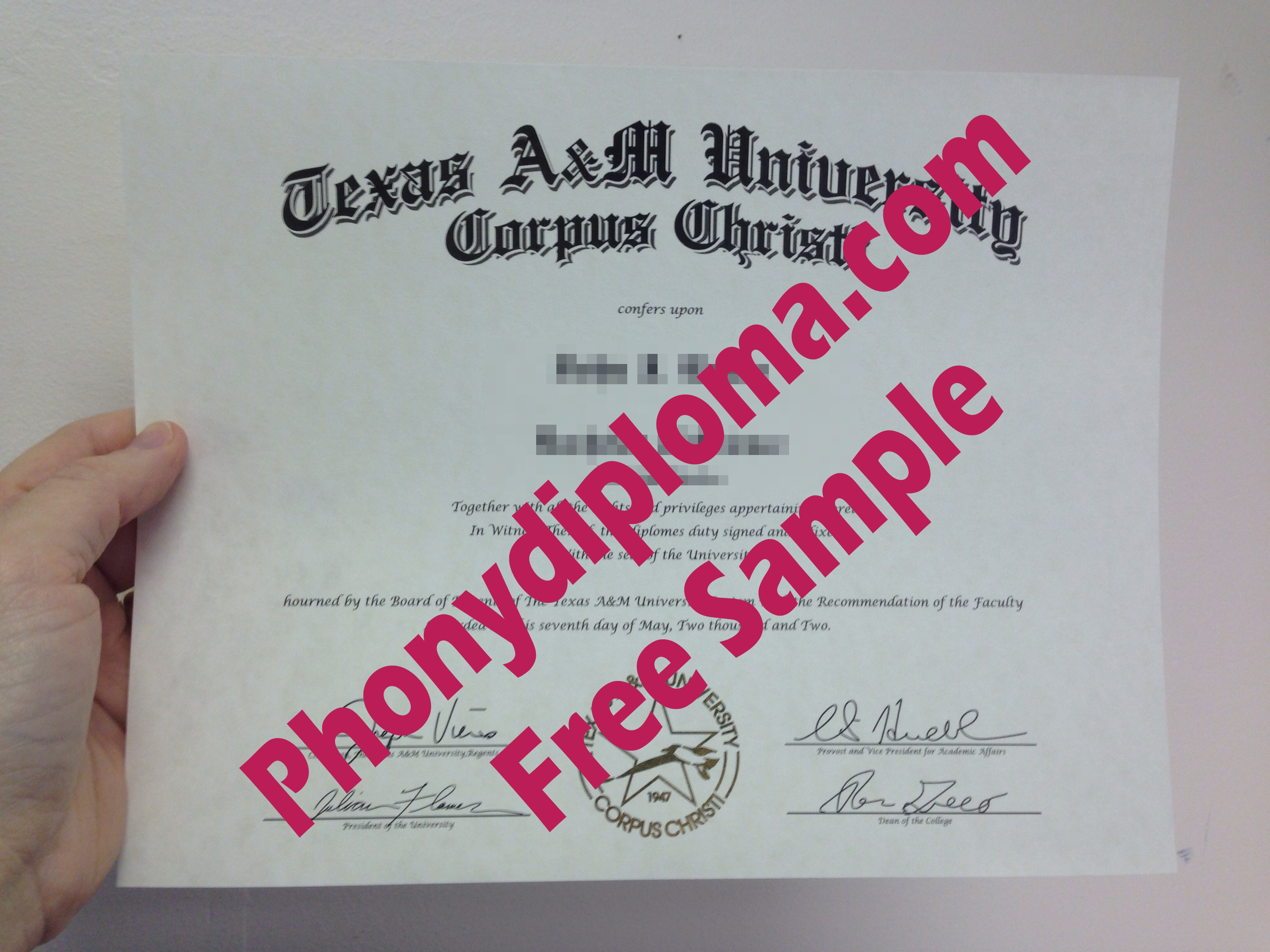 Texas A&M University Choice Of Campuses Free Sample From Phonydiploma