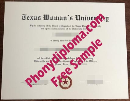 Texas Women's University Free Sample From Phonydiploma