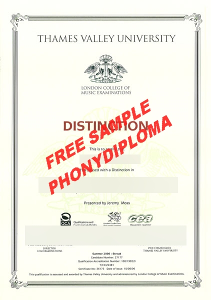 Thames Valley University Actual Match Transcript Free Sample From Phonydiploma